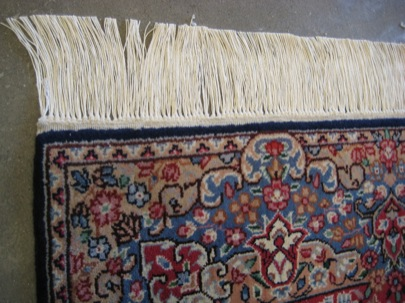 Picture of close up rug fringe