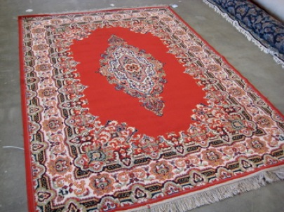Picture of beautiful red rug after cleaning